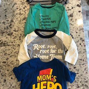 4 infant shirts GYMBOREE - SEVEN & CARTERS 3-6mos